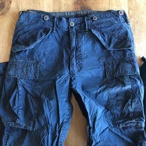 RRL cotton/nylon cargo pants